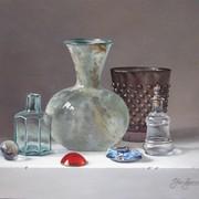 <strong>Gekleurd glas (Afm.24x30cm.)</strong>