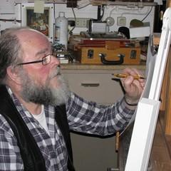 <strong>De schilder in zijn atelier</strong>